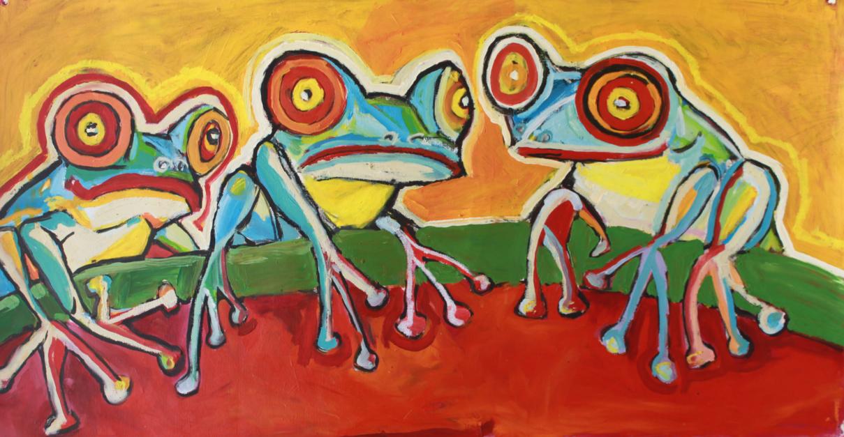 Frog |Pintura de Veo blasco | Compra arte en Flecha.es