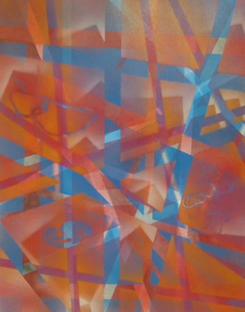 el bosque rojo |Pintura de Juan Caravaca Art | Compra arte en Flecha.es