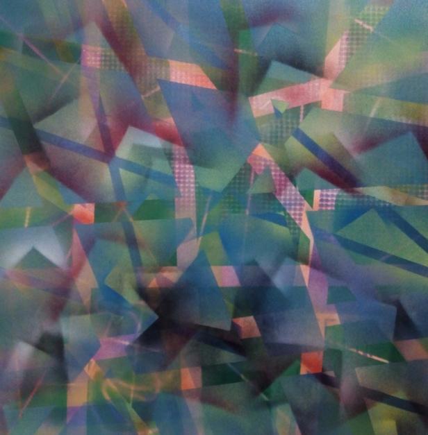 bosque azul |Pintura de Juan Caravaca Art | Compra arte en Flecha.es