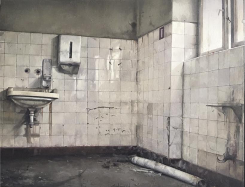 Baño Abandonado |Pintura de Rodríguez Lobo | Compra arte en Flecha.es