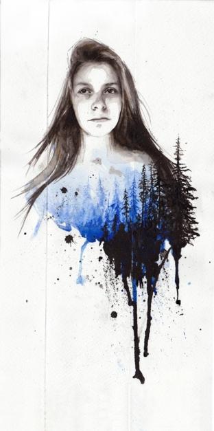 Breathe |Dibujo de Mentiradeloro | Compra arte en Flecha.es