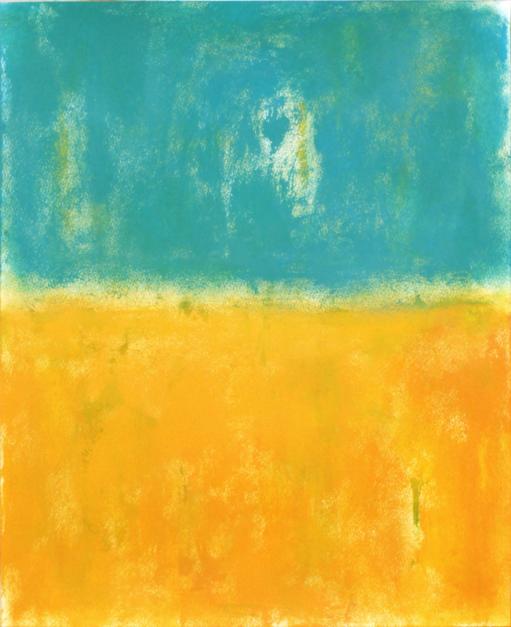 Orange field |Pintura de Luis Medina | Compra arte en Flecha.es
