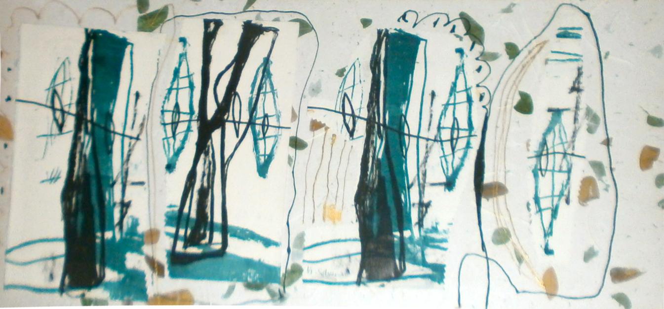 serie bosque encantado |Collage de Sílvia Colomina | Compra arte en Flecha.es