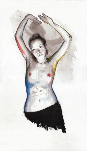 You snatched my entrails |Dibujo de Mentiradeloro | Compra arte en Flecha.es