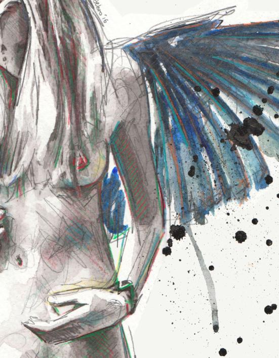 Yo soy el loro feróz | Dibujo de Mentiradeloro | Compra arte en Flecha.es