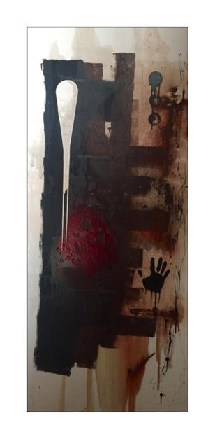 Huella de sangre |Pintura de Alejandro Lopez | Compra arte en Flecha.es