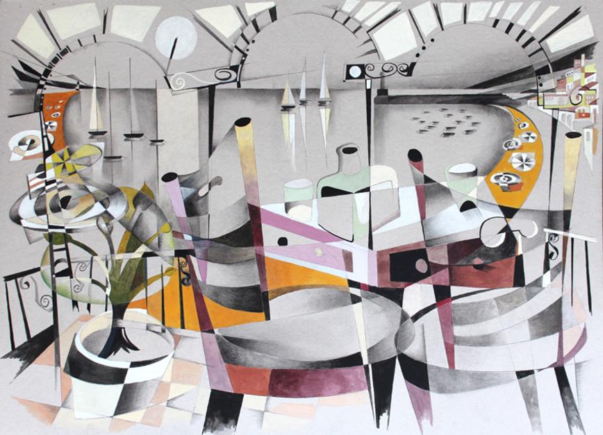 puerto II |Pintura de Miguel Mansanet | Compra arte en Flecha.es