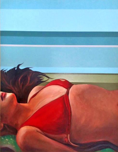 On  Red  Pintura de Aurora Rumí   Compra arte en Flecha.es