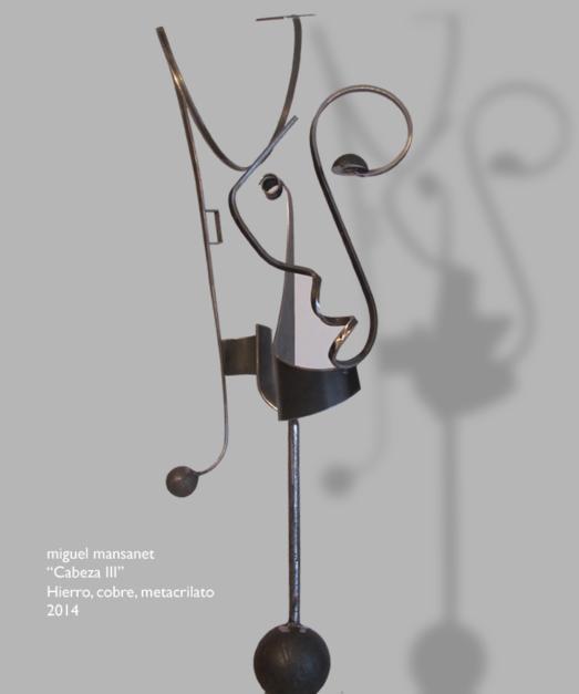 cabeza III  Escultura de Miguel Mansanet   Compra arte en Flecha.es