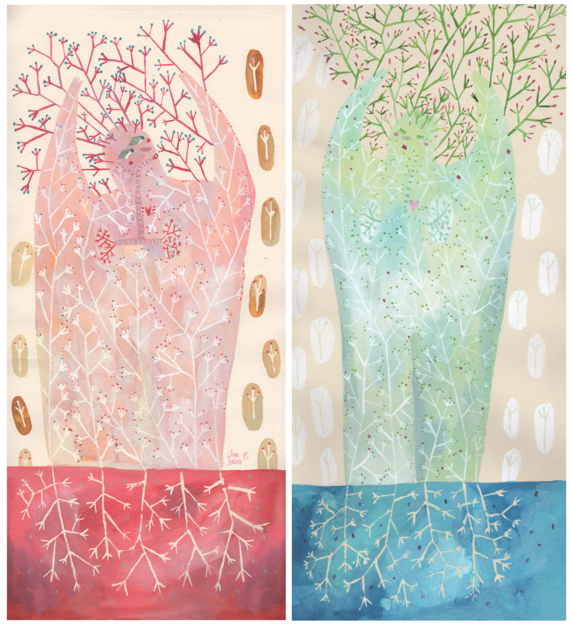 Cálidos veranos, gélidas mañanas  Dibujo de Ana Suárez   Compra arte en Flecha.es