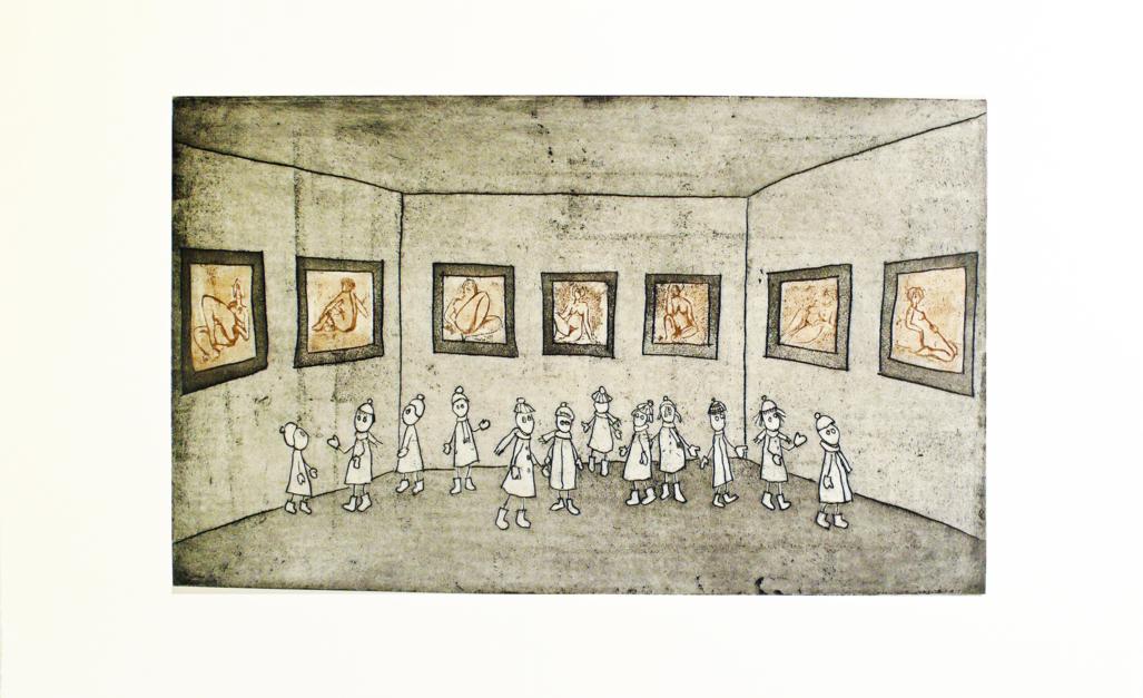 La Sala del Museo  Obra gráfica de Ana Valenciano   Compra arte en Flecha.es