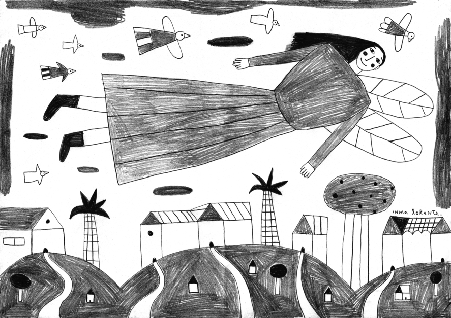 Angel |Dibujo de Inma Lorente | Compra arte en Flecha.es