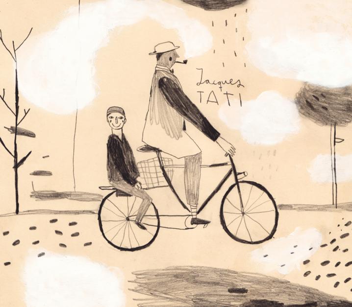 Jacques Tati  Dibujo de Inma Lorente   Compra arte en Flecha.es