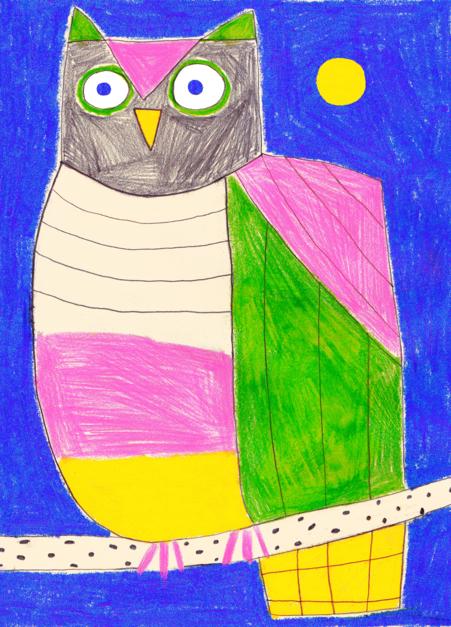 Búho |Dibujo de Inma Lorente | Compra arte en Flecha.es