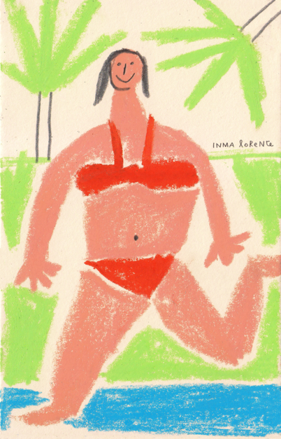 Verano |Dibujo de Inma Lorente | Compra arte en Flecha.es
