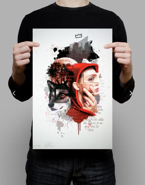 Caperucita feroz |Digital de ASIER | Compra arte en Flecha.es