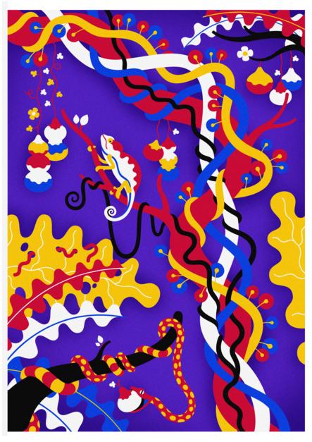 Cameleon |Dibujo de Otis | Compra arte en Flecha.es
