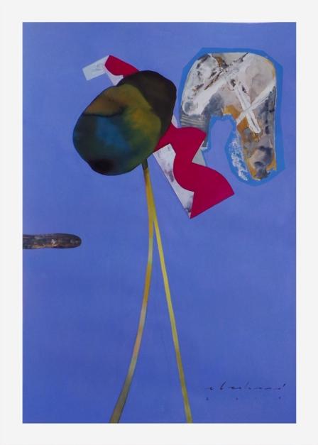 Equilibrista. Serie de la figuras abstractas  (1) |Collage de Raul Eberhard | Compra arte en Flecha.es