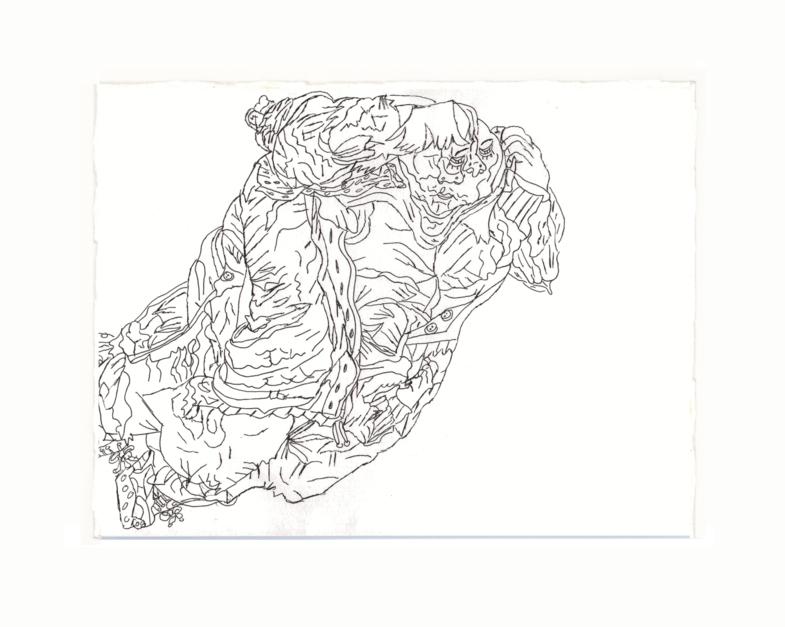 Mujer dormida |Dibujo de Alicia Herrera | Compra arte en Flecha.es