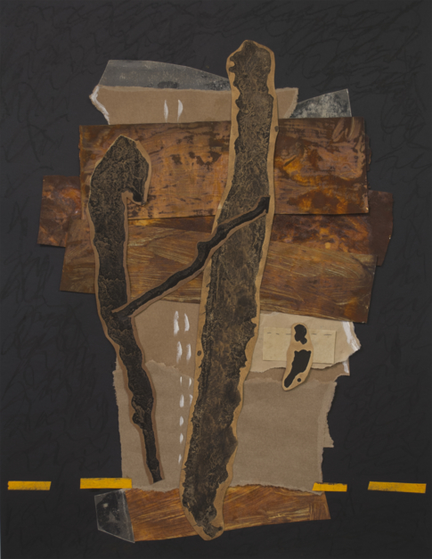 Homenage a Lascaux |Collage de Txabi Sagarzazu | Compra arte en Flecha.es