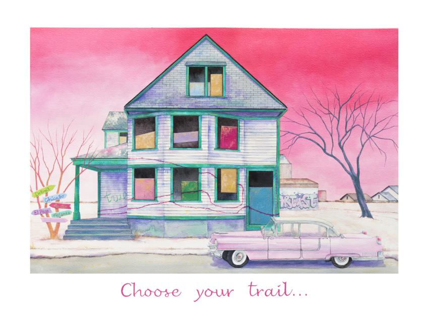 Choose Your Trail |Ilustración de Rosa Alamo | Compra arte en Flecha.es
