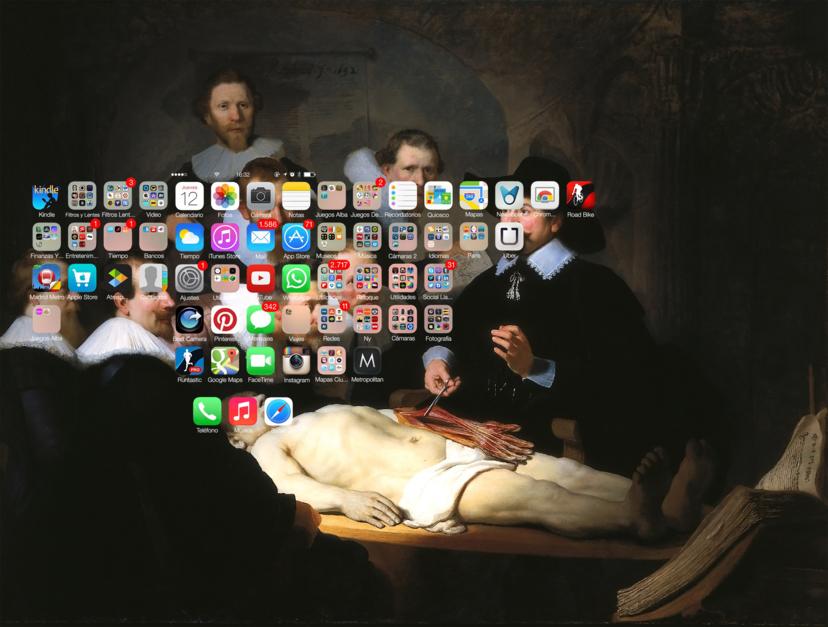 #Smartpaint, Lección de anatomía, Rembrandt |Digital de Juan Carlos Rosa Casasola | Compra arte en Flecha.es