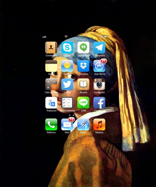 #Smartpaint, Muchacha con perla, Vermeer |Digital de Juan Carlos Rosa Casasola | Compra arte en Flecha.es