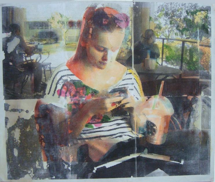 lo importante es con quien compartes el plato, no de qué está lleno VII |Pintura de Juan Carlos Rosa Casasola | Compra arte en Flecha.es