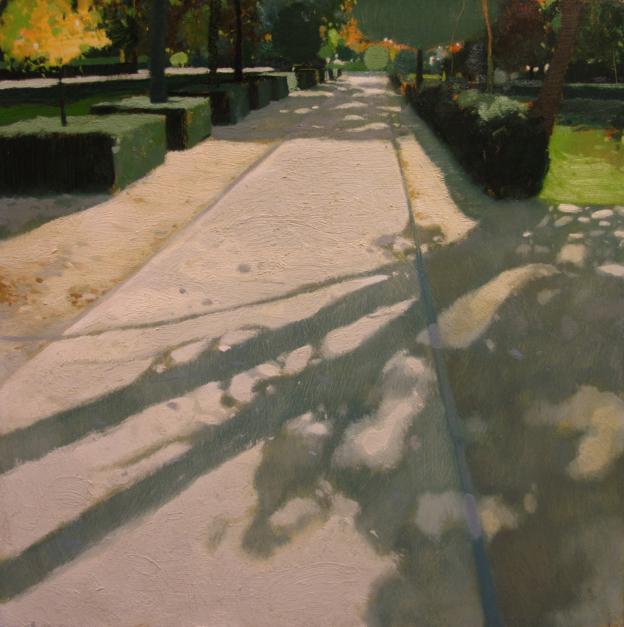 Entrando al Retiro  Pintura de Juan Manuel Campos Guisado   Compra arte en Flecha.es