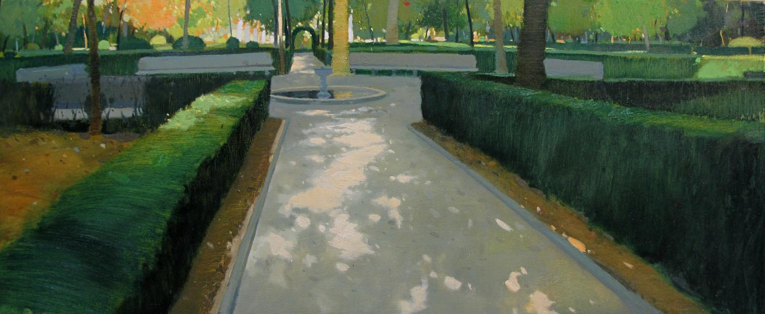 Jardines de Aranjuez |Pintura de Juan Manuel Campos Guisado | Compra arte en Flecha.es
