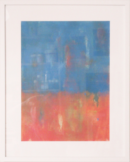 Blue and orange |Pintura de Luis Medina | Compra arte en Flecha.es