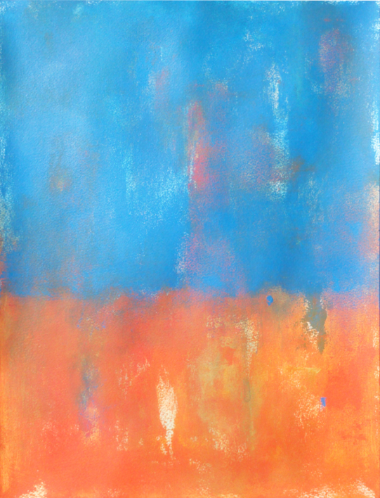 Blue and orange | Pintura de Luis Medina | Compra arte en Flecha.es
