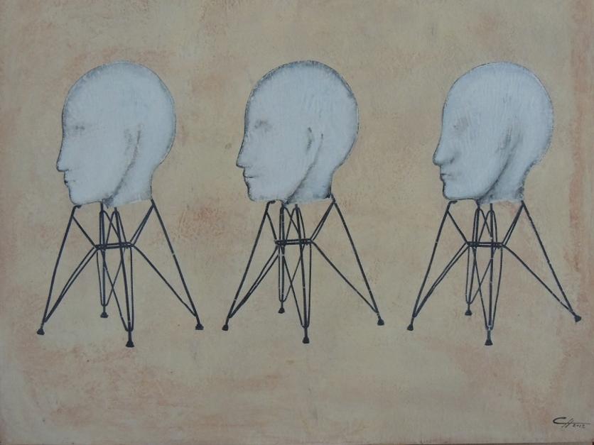 DANDO EL PERFIL  Collage de Merche Chia   Compra arte en Flecha.es