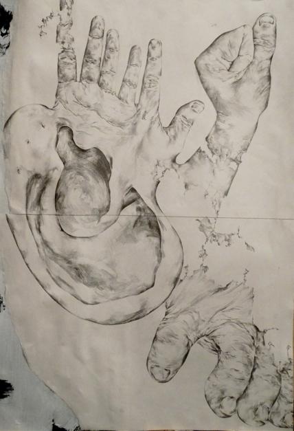 Desintegración |Dibujo de Bea Juan | Compra arte en Flecha.es
