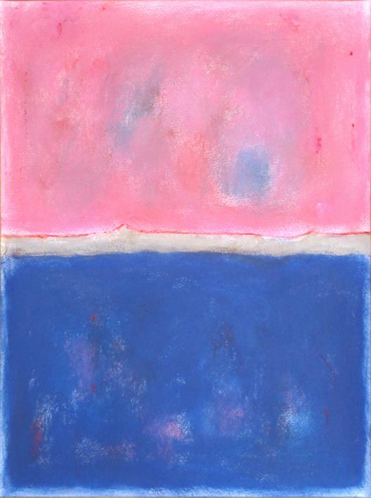Pink and blue composition |Pintura de Luis Medina | Compra arte en Flecha.es