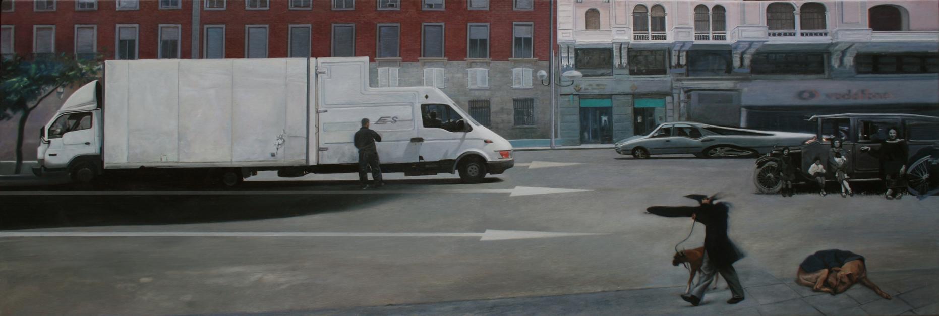 Ficción Urbana IV.  La permamencia de la memoria. |Pintura de Erick Miraval | Compra arte en Flecha.es