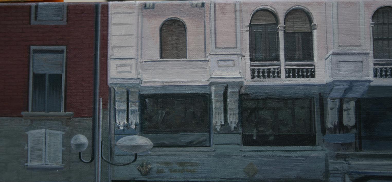 Ficción Urbana IV.  La permamencia de la memoria. | Pintura de Erick Miraval | Compra arte en Flecha.es