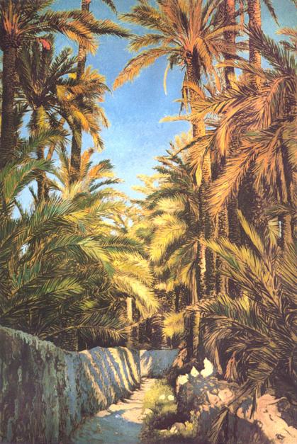 Camino entre huertos  Pintura de Victor Candela   Compra arte en Flecha.es