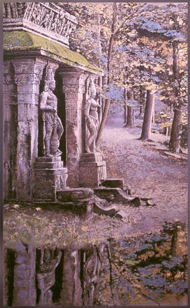 Jardin del Templo |Pintura de Victor Candela | Compra arte en Flecha.es