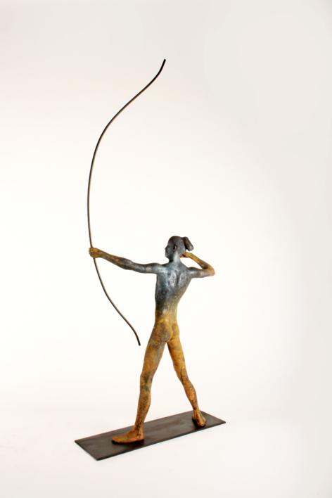 ARQUERO   Escultura de Javier de la Rosa   Compra arte en Flecha.es