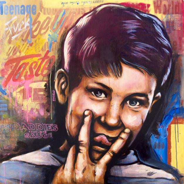 Wake Up Your Taste |Pintura de Sr. X | Compra arte en Flecha.es