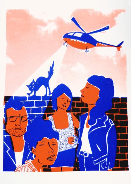 BRIGADA DE INFORMACIÓN |Ilustración de Mar Estrama | Compra arte en Flecha.es