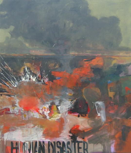 """Human disaster"" |Pintura de Guillermo Moreno | Compra arte en Flecha.es"