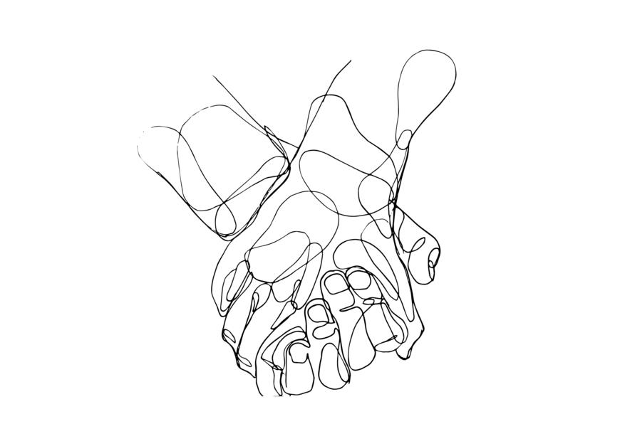 Manos II |Dibujo de Taquen | Compra arte en Flecha.es