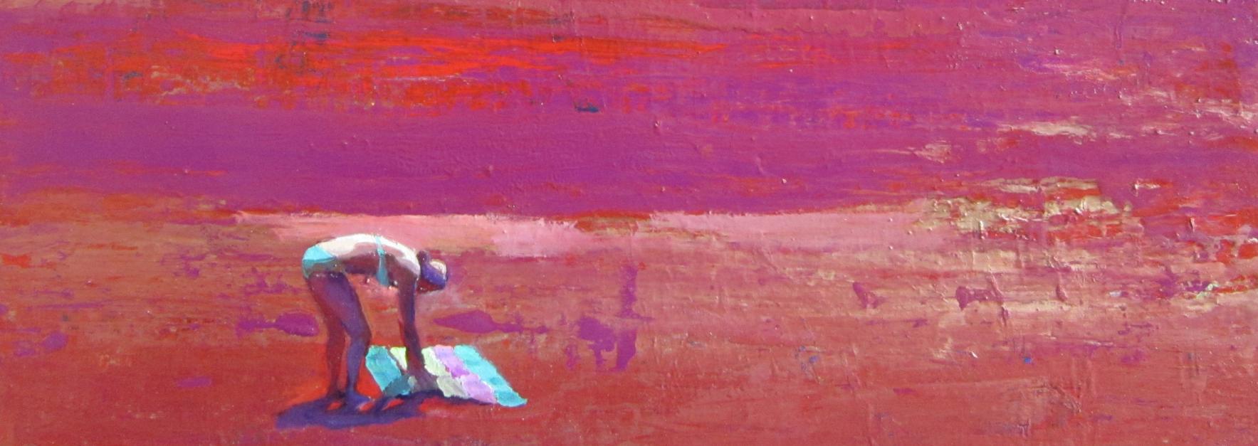 No te olvides la toalla |Pintura de Carmen Montero | Compra arte en Flecha.es