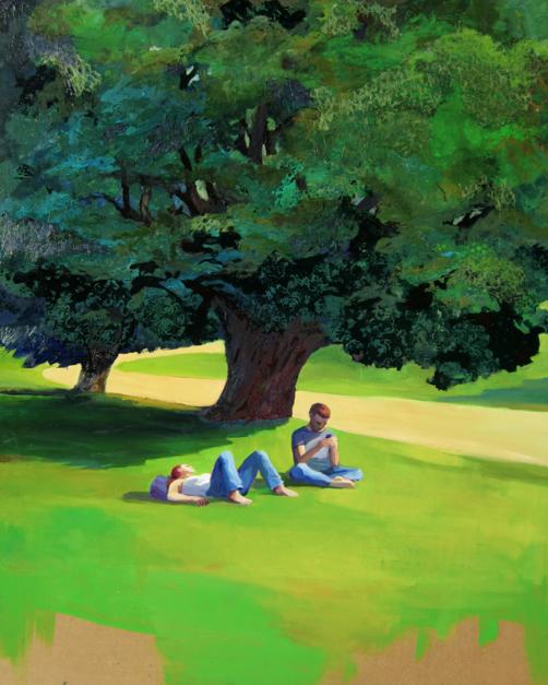 Hora de  descanso |Pintura de Carmen Montero | Compra arte en Flecha.es