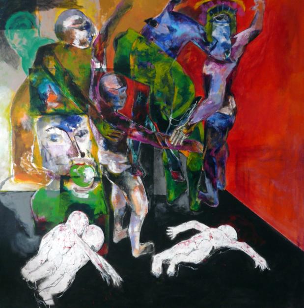 El  poder de la madre |Pintura de Javier Paniagua | Compra arte en Flecha.es