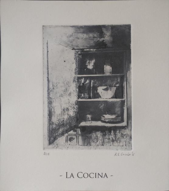 La cocina  Dibujo de Adrián Sánchez Encabo   Compra arte en Flecha.es