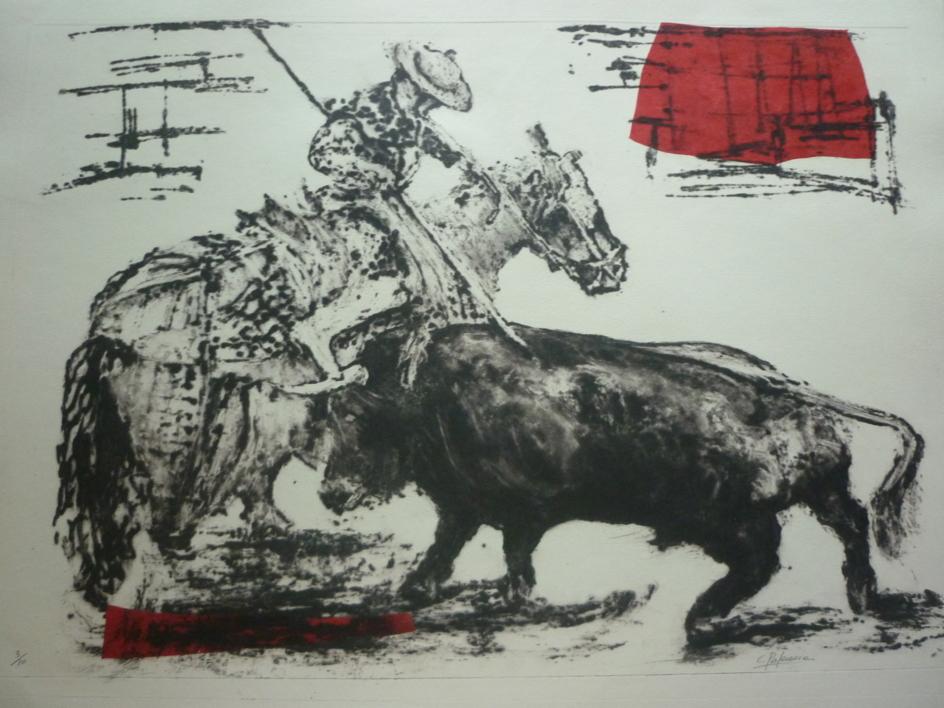 El picador |Obra gráfica de Carmina Palencia | Compra arte en Flecha.es