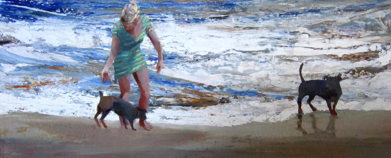 Paseo canino |Pintura de Carmen Montero | Compra arte en Flecha.es
